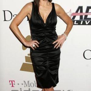 Nicole Miller Ruched Satin Dress